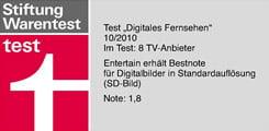 HD-TV Testsieger Telekom Entertain