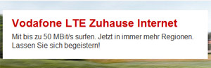 Vodafone LTE zu Hause
