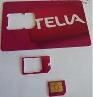 Telia Micro-Sim-Karte