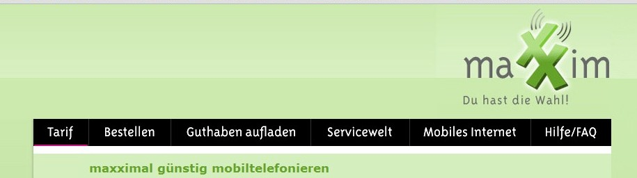 1 monat gratis Internet bei Maxxim