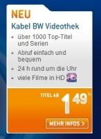 Kabel BW Videothek