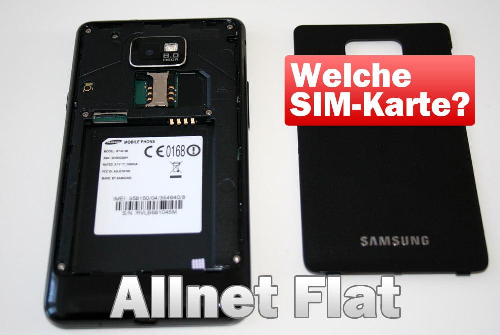Allnet Flat - Welche SIM-Karte