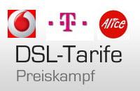 DSL-Tarife stehen zueinander im Preiskampf