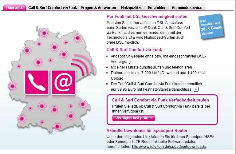 Telekom LTE-Tarif