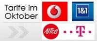 Telekom, Vodafone, Alice und 1und1 im Oktober