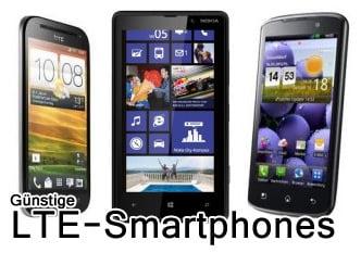 Handys mit LTE: Wir vergleichen die günstigsten Modelle